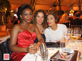 Genevieve Spotted With Christain Louboutin & Hollywood Star, Rosario Dawson In UK 2
