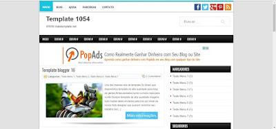 Template Para Blogger 2 coluna #1054