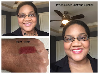 Revlon Super Lustrous Lipstick - Rum Raisin on dark skin