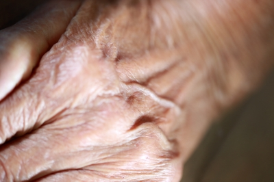 A grandmother's hand