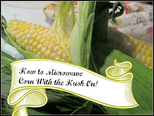 So simple and a unique way to get the silk off!   Vickie's Kitchen and Garden