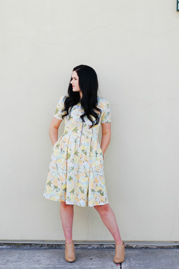 The LuLaRoe Nursing Friendly Amelia Dress