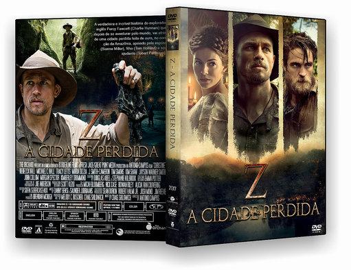 CAPA DO DVD FILME Z – A CIDADE PERDIDA 2017