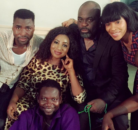 mide martins afeez owo movie set