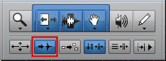Pro Tools Tab to Transient button