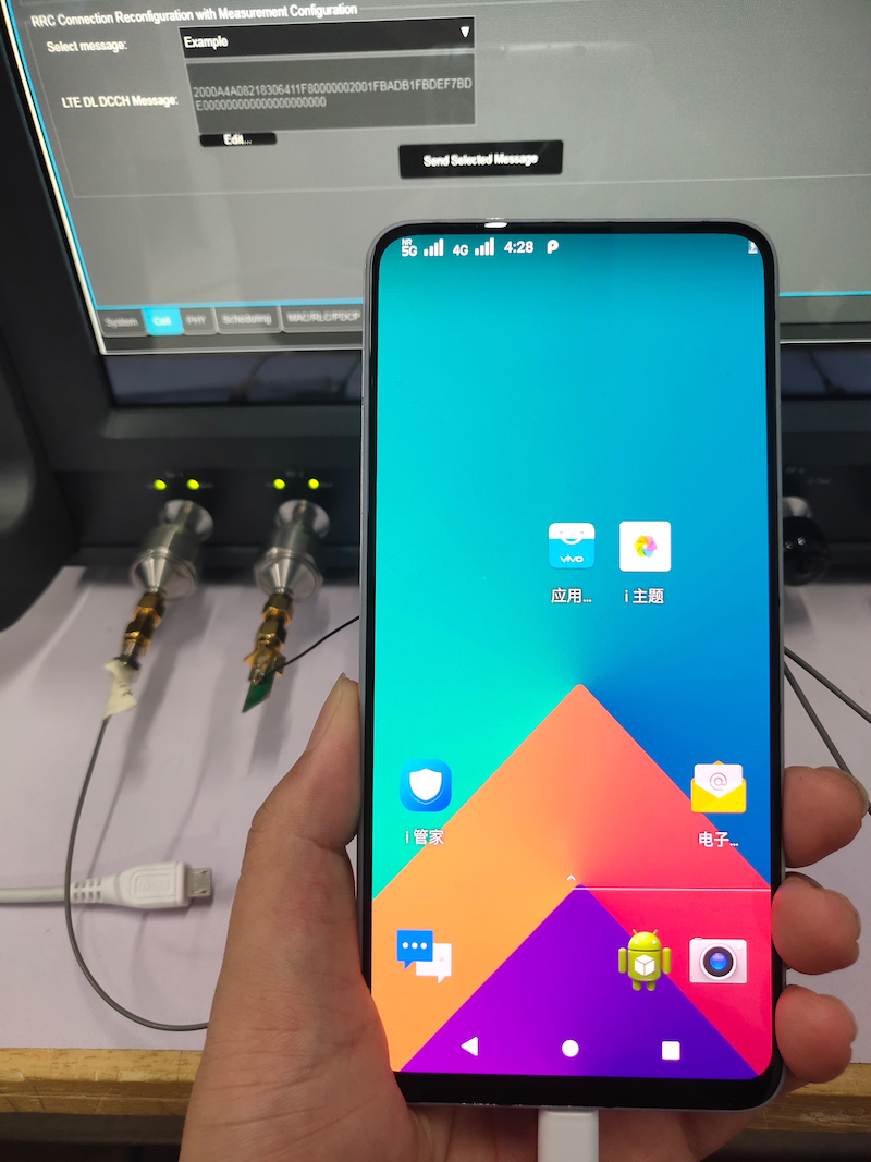 5G on a Vivo NEX smartphone