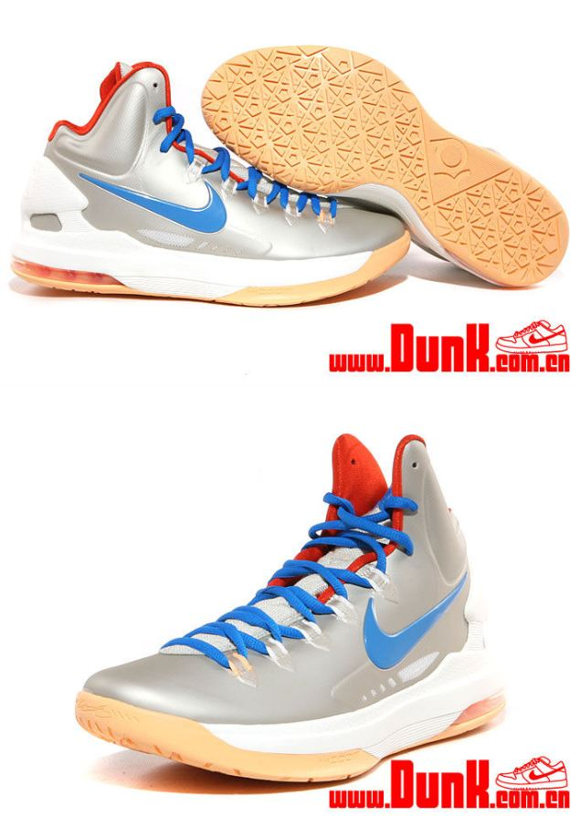 50954b579b1 Here is a look at the Nike KD V Sneaker in Birch  Photo Blue- Sail- Team  Orange releasing on Saturday