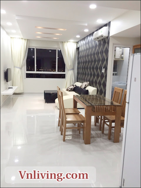 Shiny furniture 2 Bedrooms for rent in Tropic Garden apartment