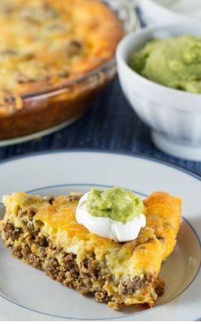 Crustless Low Carb Taco Pie (with taco seasoning recipe)