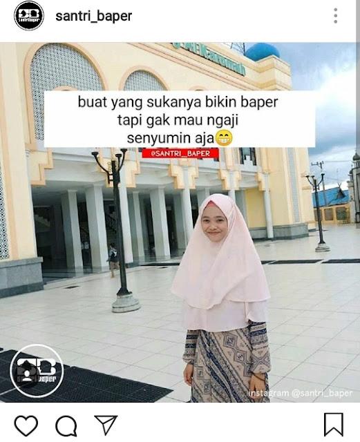 40 Gambar Kata Caption Keren IG Santri Putri Hits Zaman