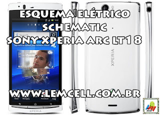 Esquema Elétrico Celular Smartphone Sony Xperia Arc S LT18 Manual de Serviço  Service Manual schematic Diagram Cell Phone Smartphone Sony Xperia Arc S LT18