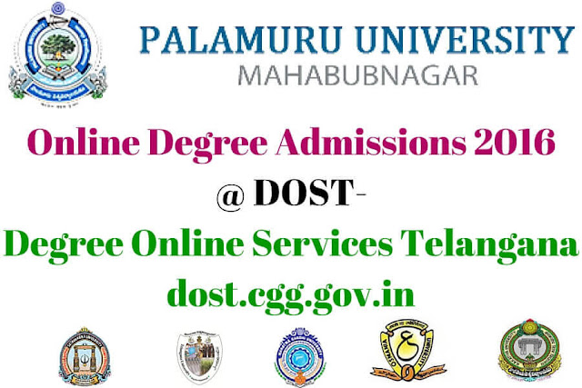 Palamuru University,Online Degree Admissions,dost-degree online services telangana