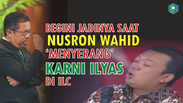 Begini Jadinya Saat Nusron Wahid 'Menyerang' Karni Ilyas di ILC