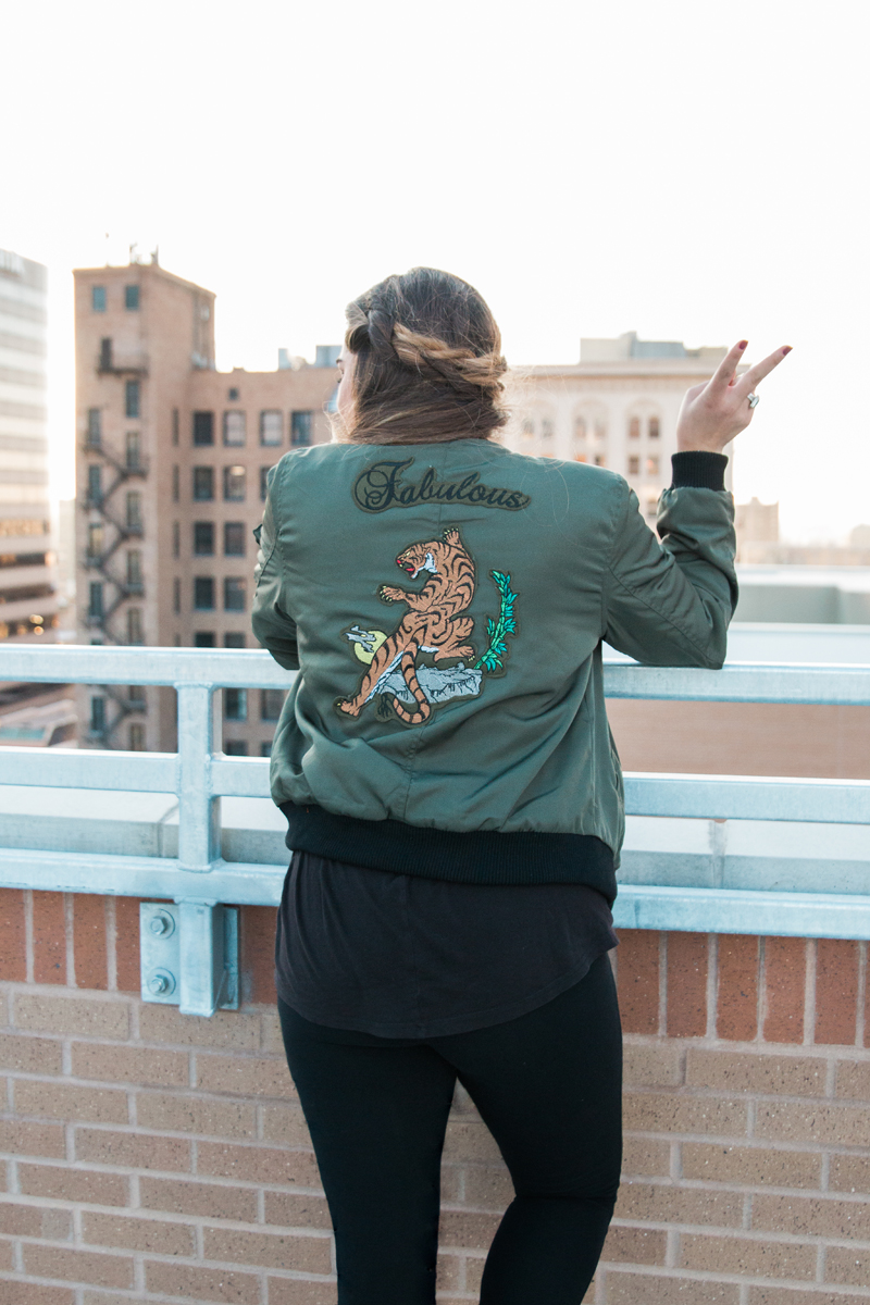 forever21, bomber jacket, jacket with patches