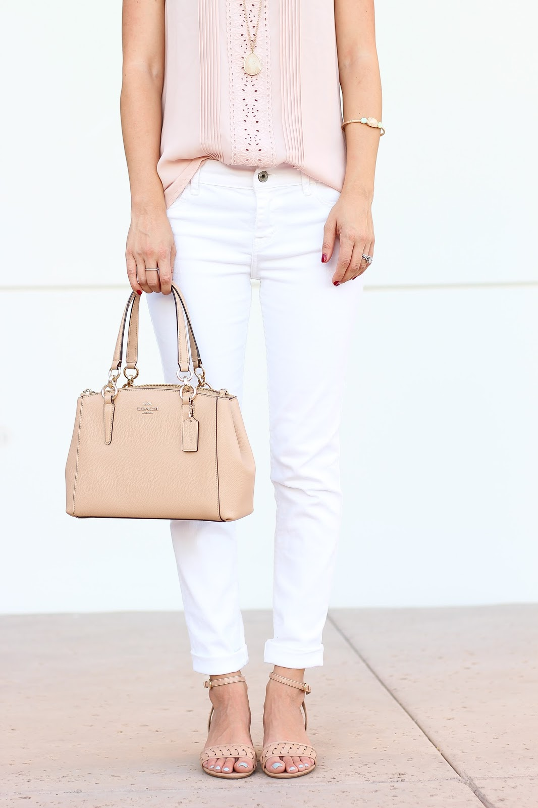 coach, nina shoes, white jeans