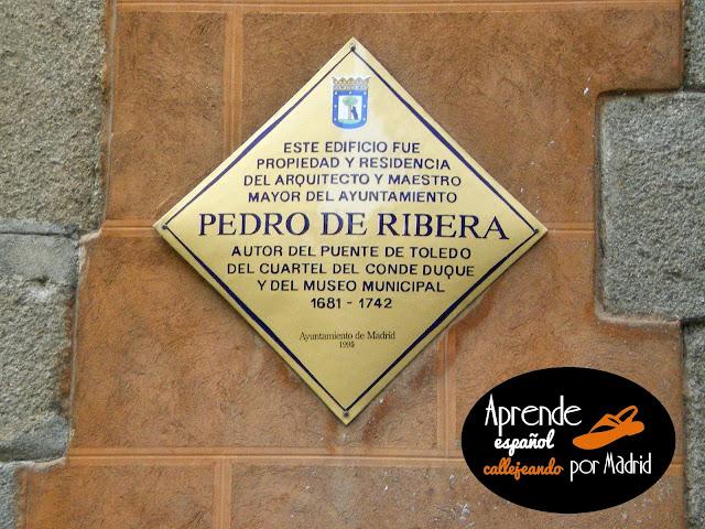 aquí vivió Pedro de Ribera