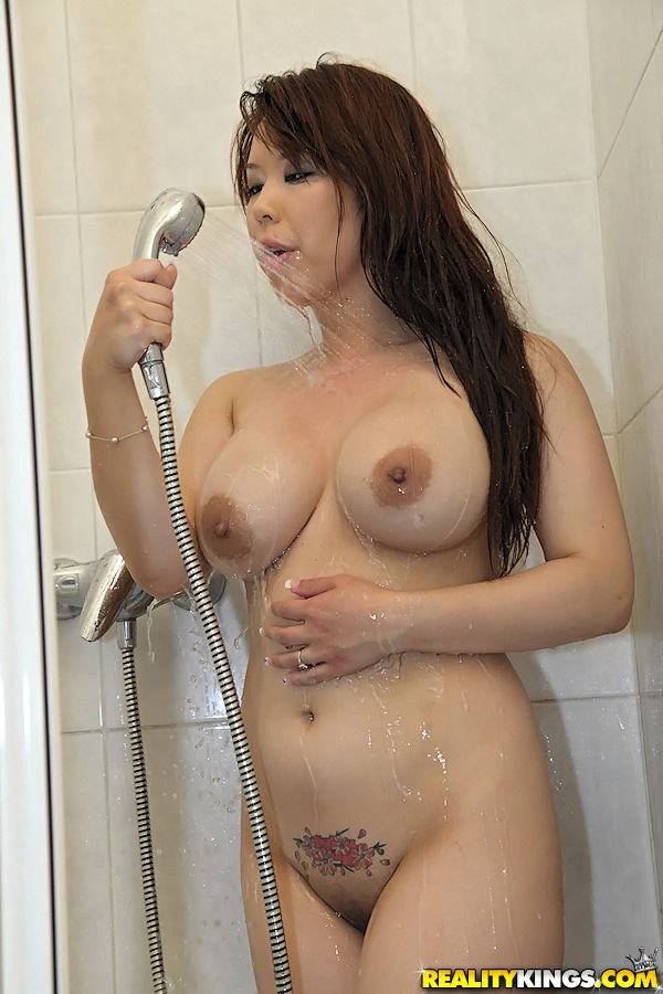 Japanese hot girl in shower