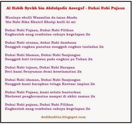 Lirik Lirik Shalawat Lirik Habib Syech Duhai Nabi Pujaan Mp3