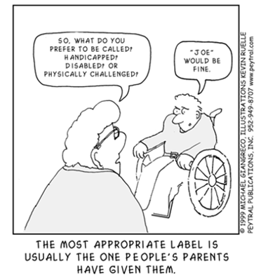 The importance of names in disability inclusion; Removing the Stumbling Block