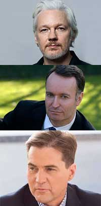 Julian Assange, Andrew O'Hagan, Craig Wright