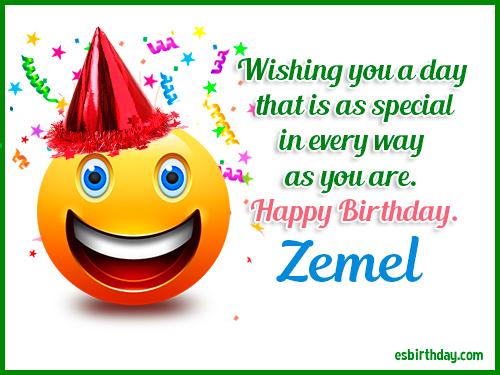 Zemel Happy birthday