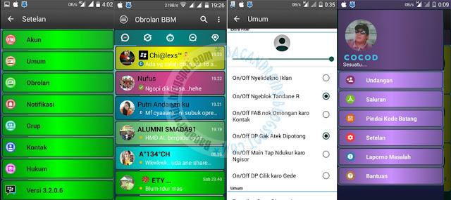 BBM Mod Kelap Kelip Disco Color Mix Theme Versi 3.2.0.6 Apk