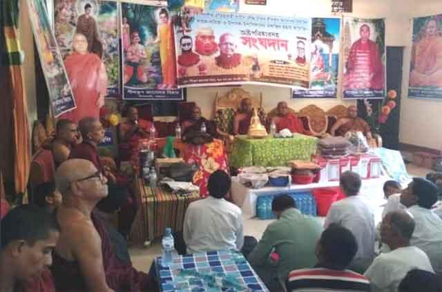 শিলকুপ জ্ঞানোদয় বিহারে উপোসথিক সংঘদান অনুষ্ঠিত