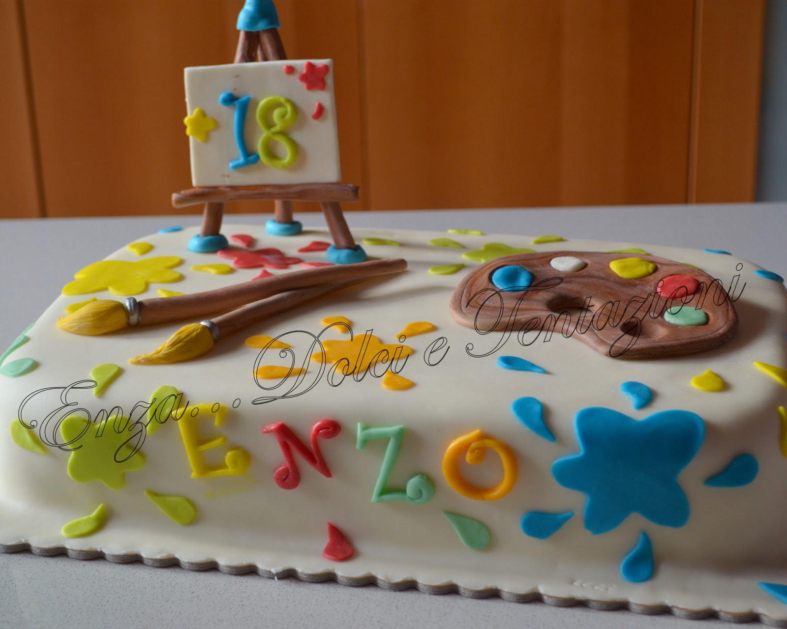 dolci-decorazionietentazioni  Torta Artistica per un 18° ... e il ... f4359eda2d7f