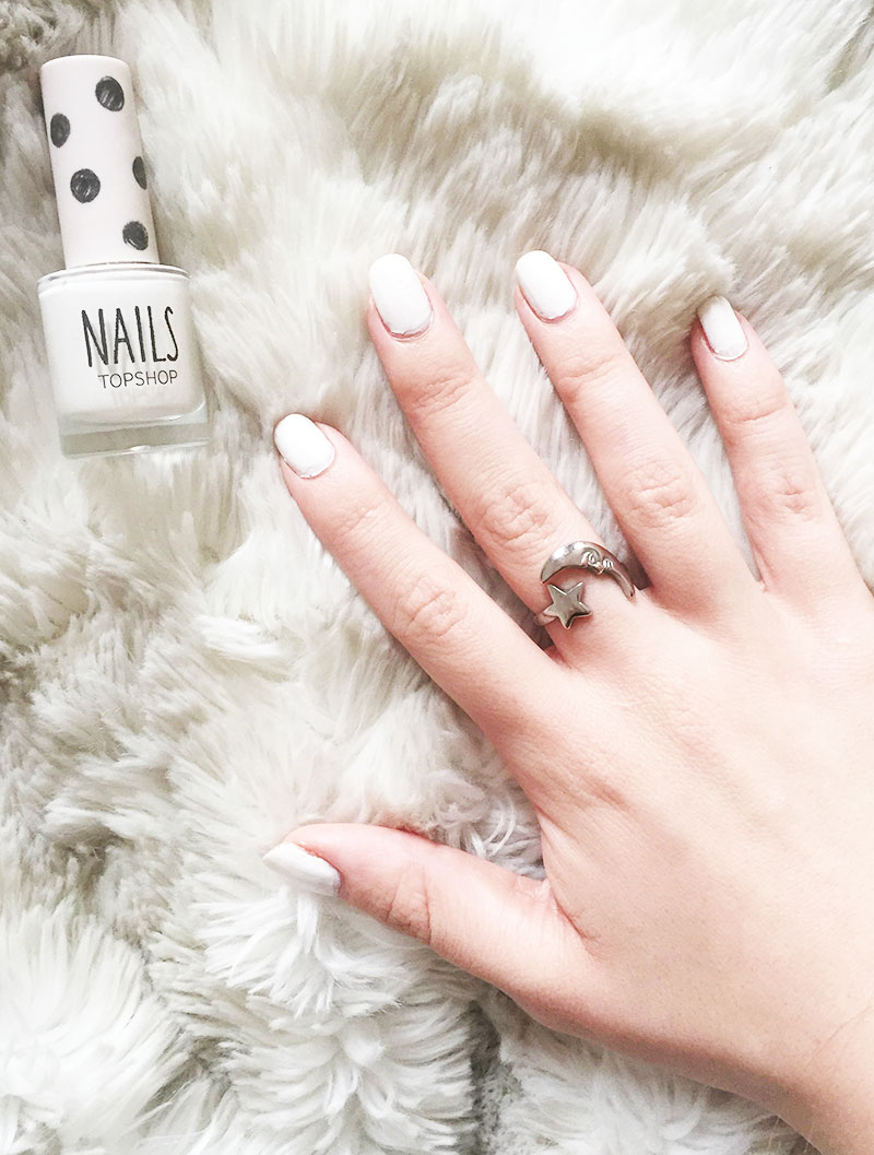 Topshop Spilled Milk Nails