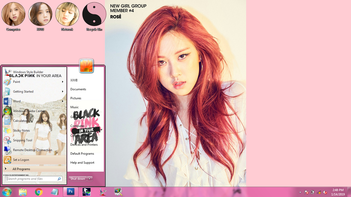 Download BLACKPINK Predebut - Windows 7 Themes - KNAW7T