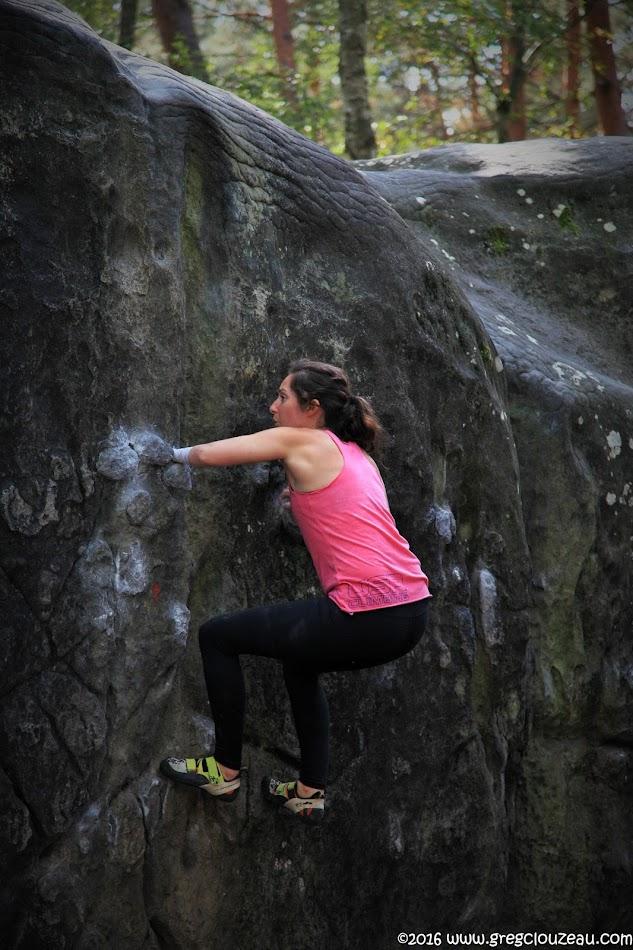 Maureen Beck, versus La Cascade, Isatis, Fontainebleau, France