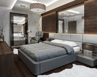 habitación con paredes decoradas