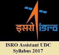 ISRO Assistant UDC syllabus