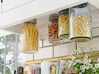 Make Hanging Mason Jar Storage