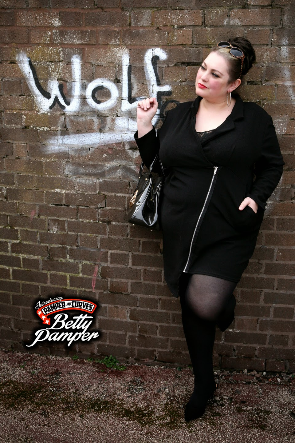 Nadia Aboulhosn For Boohoo Plus: Tuxedo Dress Review ...