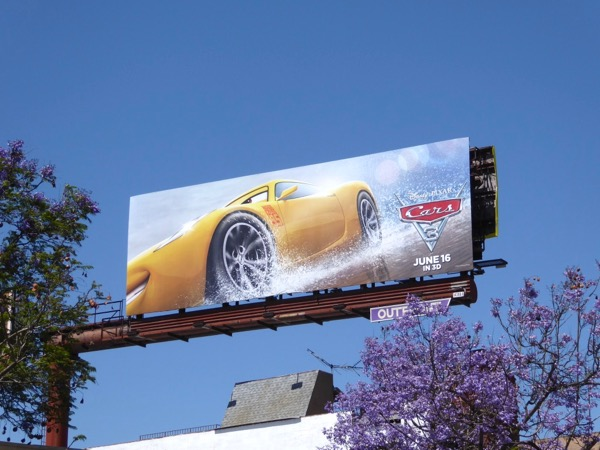 Cars 3 movie billboard