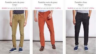 pantalones de pana para hombre de Chevignon
