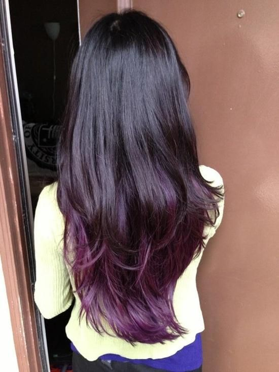 Strange Black Amp Purple Hairstyles A Gorgeous Combination Hairstyle Inspiration Daily Dogsangcom