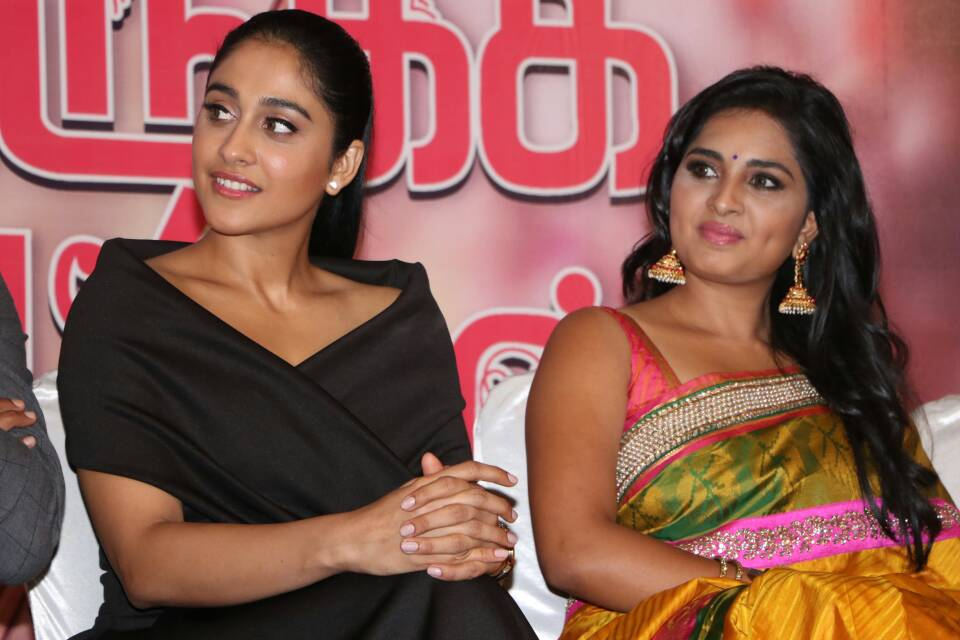 Regina Cassandra at Saravanan Irukka Bayamaen Press Meet