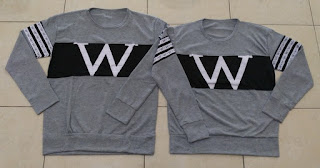 Jual Online Sweater Wonder Neo Misty Black Couple Murah di Banten Bahan Babytery Terbaru