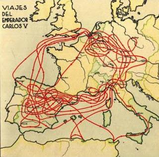 Viajes del emperador Carlos V