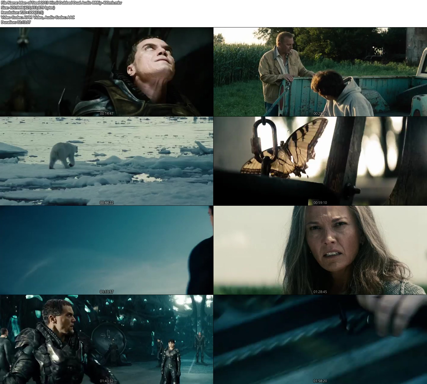 Man of Steel 2013 480p Hindi Dubbed Dual Audio 400MB BRRip x264 Screenshot