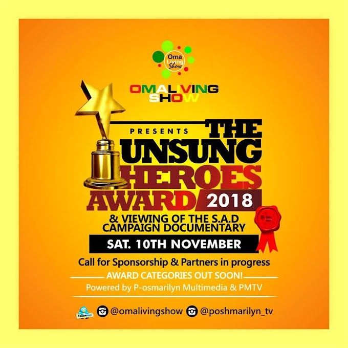 ABUJA; Unsung Heroes Award 2018 gets a date