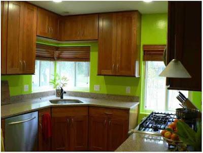 dapur minimalis ukuran 2x2 dengan meja klasik
