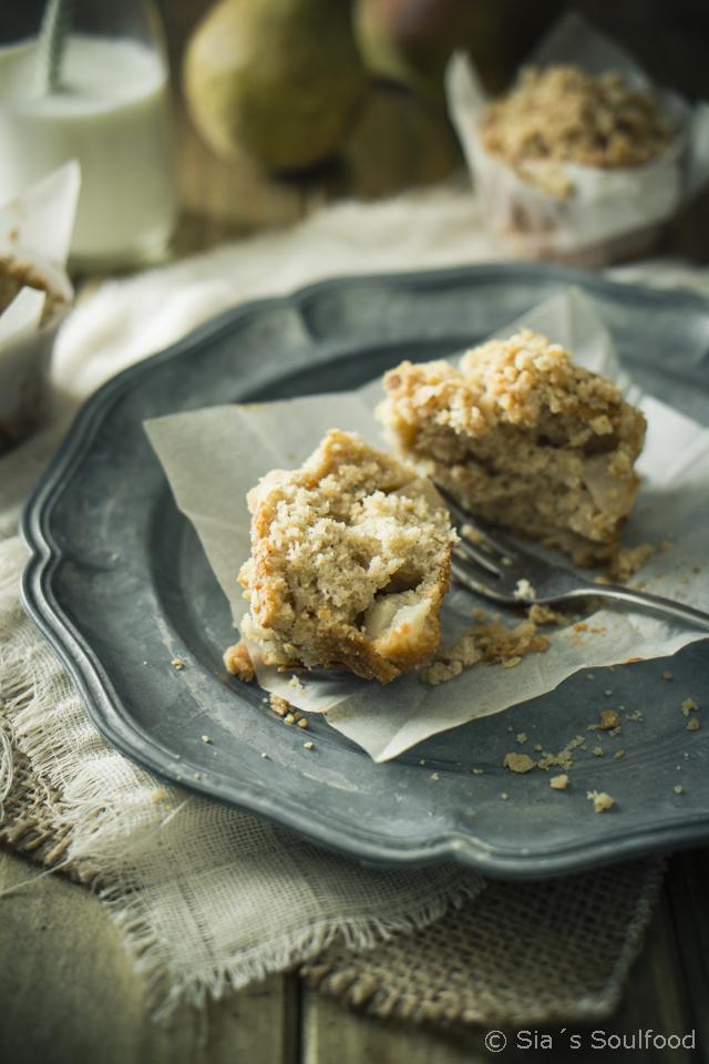 Birnen-Streusel-Muffins