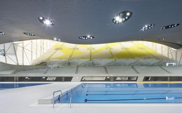 9. London Aquatics Centre (2011) untuk Olimpiade Musim Panas di London, Inggris