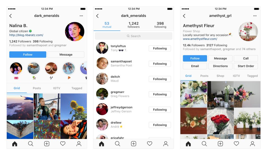 Instagram - Kemaskini Pada Layout Profile Instagram