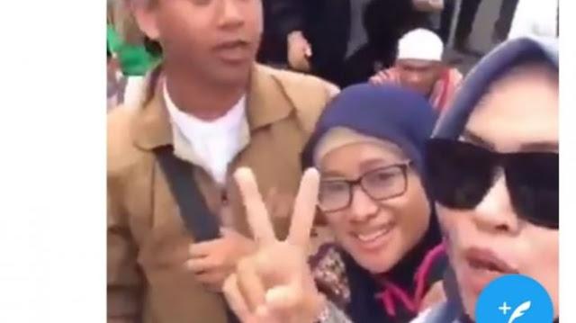 Beredar Video Pendemo Bawaslu Teriak Takbir dan Ancam Pengg4l Kepala Jokowi