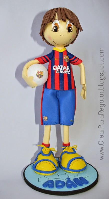 Fofucho con la equipación del fc barcelona