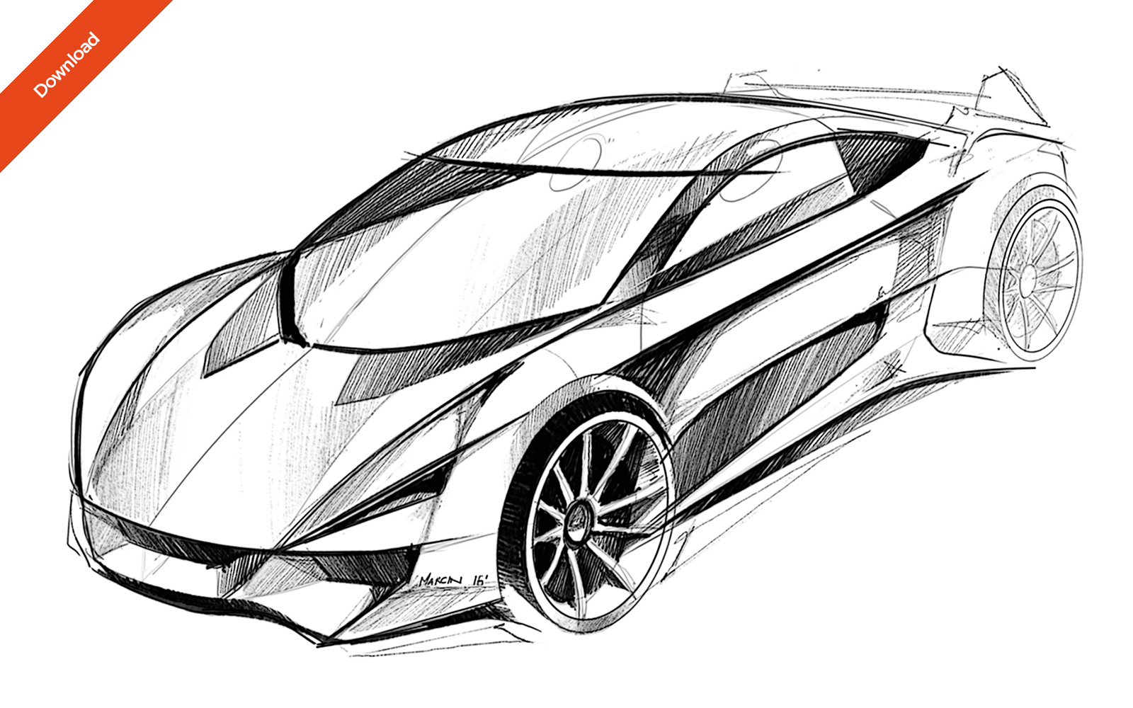 REVIEW: Car Sketches - SET 01 | CarDesignPro on Patreon
